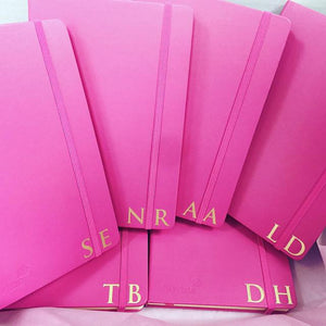 Monogram Personalised Journal - Pink