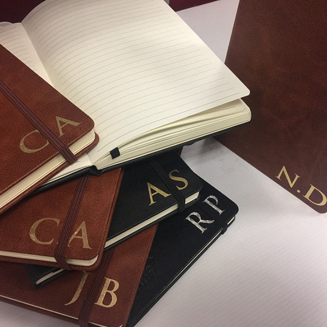 Monogram Personalised Journal - Brown Tan