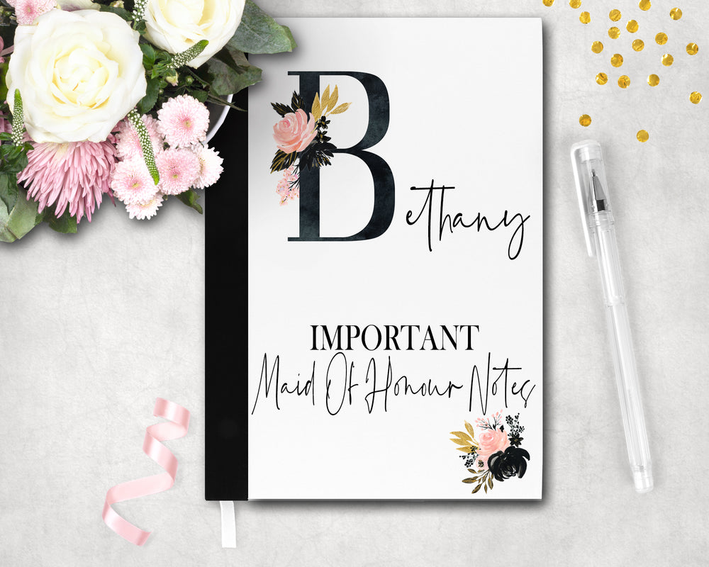 A5 Personalised Important Notebook