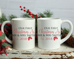 Our First Christmas Couple Mug