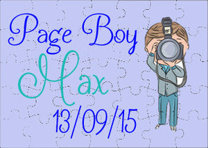 Wedding  Jigsaw - Page Boy