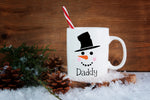 Personalised Snowman Face Mug