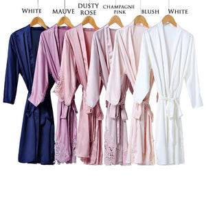 Sophia Heart Satin Lace Personalised Robe