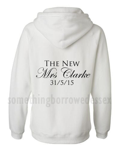 New Mrs Personalised Bride Hoodie