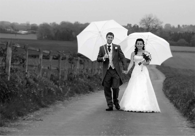 Large White Wedding Umbrella