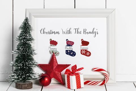 Christmas Stocking Picture Frame