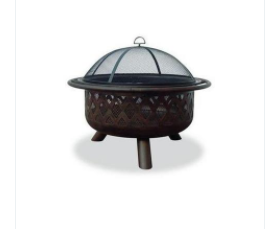 Uniflame 32 inch Outdoor Fire Pit with Criss-Cross Design