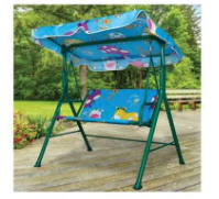 Kids Canopy Swing Bench