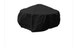 Fire Pit Cover-40 inch by 20 inch-Black