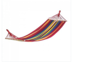 Bahama Red Stripe Single Hammock