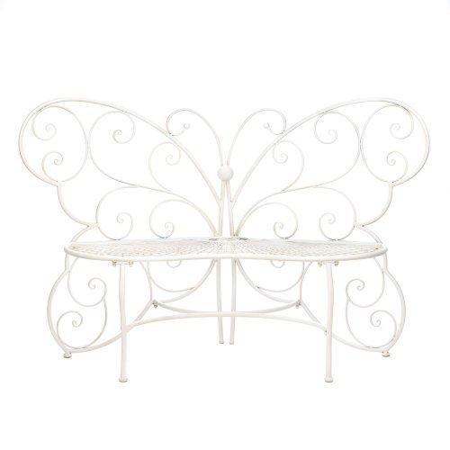 White Butterfly Garden Bench (pack of 1 EA)