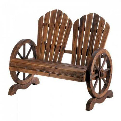 Wagon Wheel Couple Chair (pack of 1 EA)