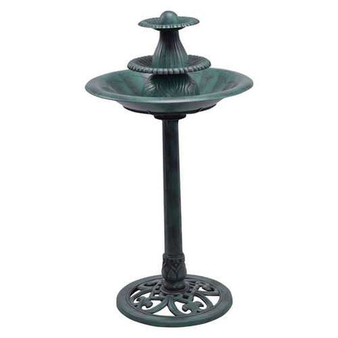 3 Tiers Outdoor Bird Decor Pedestal Water Fountain with Pump