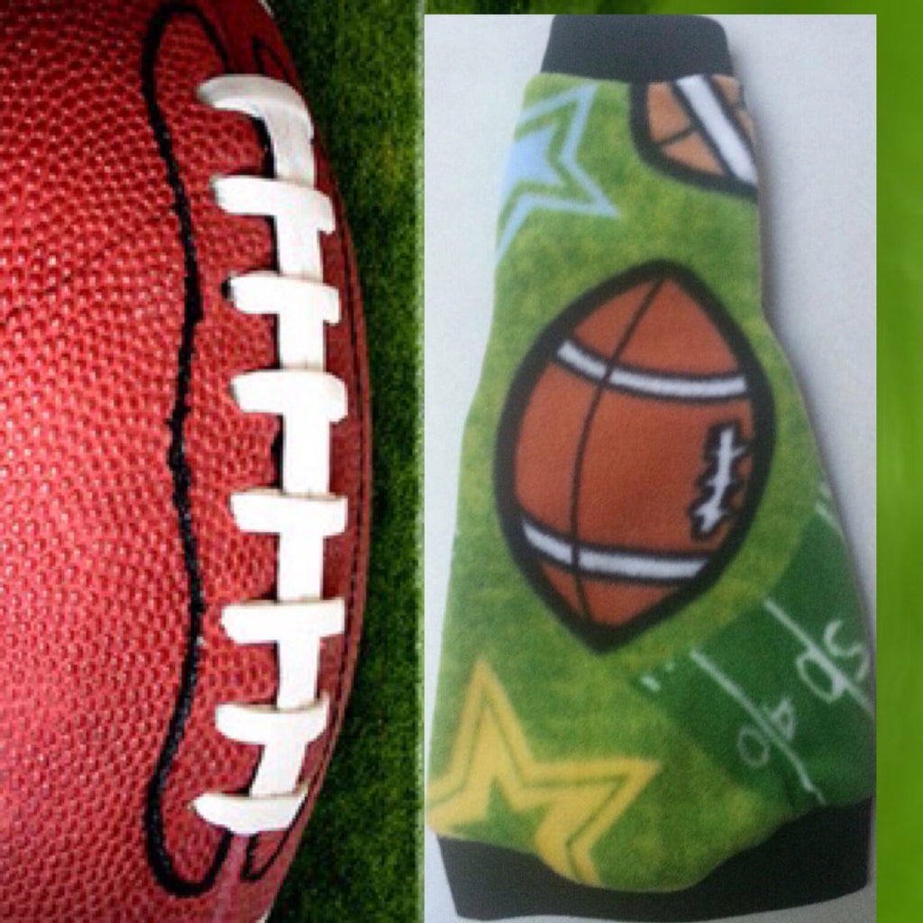 "Green Football Fleece ""Pounce Run Tackle"" - Nudie Patooties"