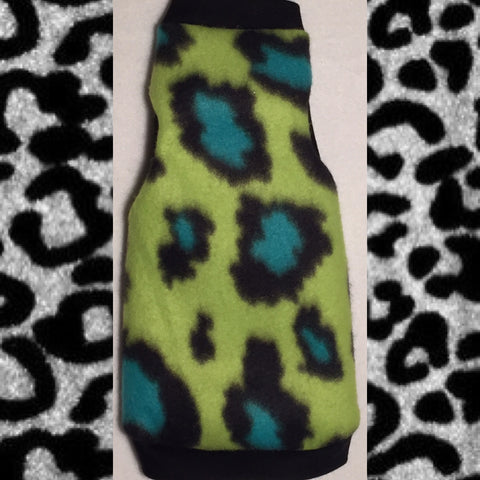 "Lime and Turquoise Cheetah Fleece ""Lime is the New Black"" - Nudie Patooties"