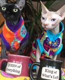 Paisley fleece sphynx clothes for your sphynx cat, bambino, donskoy, sphynx kitten, peterbald, cornishrex and devon rex cat.