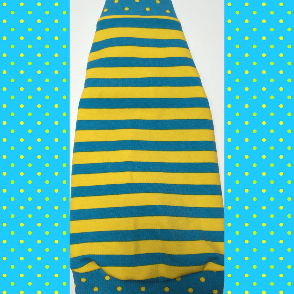 Turquoise and Yellow Stripe - Nudie Patooties