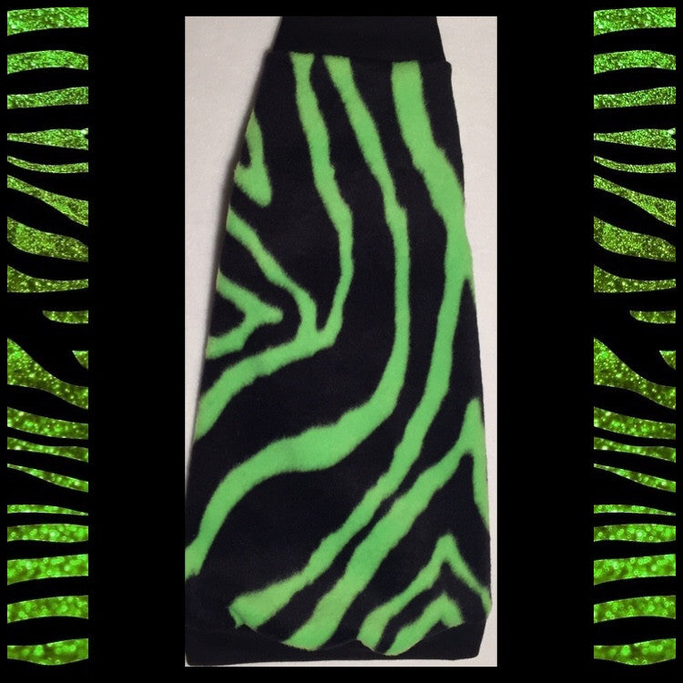 "Green Zebra Fleece ""You Make my Heart Sing"" - Nudie Patooties"