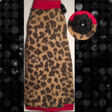 "Leopard Fleece with Red Trim ""Strike a Pose"""