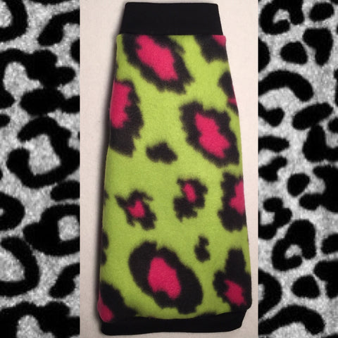 "Lime and Pink Cheetah Fleece ""Lime is the New Black"" - Nudie Patooties"
