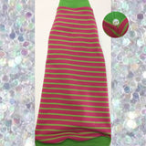 Pink and Lime Green Stripe - Nudie Patooties