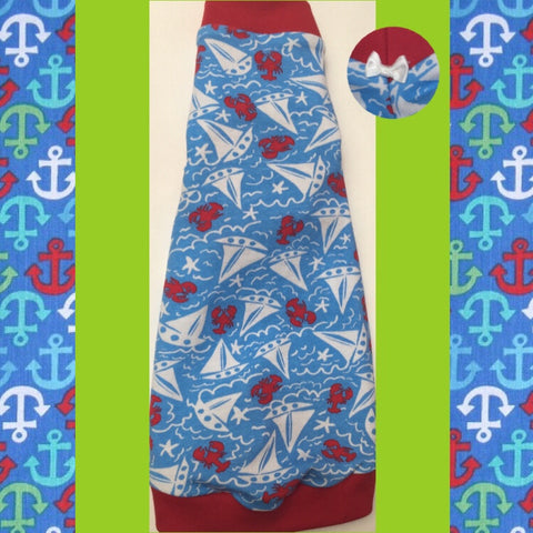 Blue Sailboats - Nudie Patooties  Sphynx cat clothes for your sphynx cat, sphynx kitten, Donskoy, Bambino Cat, cornish rex, peterbald and devon rex cat.