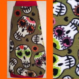 Sphynx Cat Fleece Clothes / clothes for cats/ cat overalls /cat shirt/ cat sweater/ cat sweatshirt/ pet sweater/ Sphynx cat clothes/ Sphynx clothing / cats clothes/ shirt for cat/ cat clothes/ tattoo/ skull/ designer cat clothes/ cat pjs/ Sugar Skulls