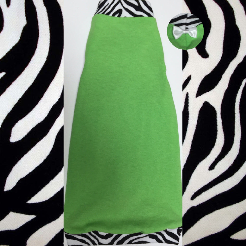 Lime Green and Zebra - Nudie Patooties