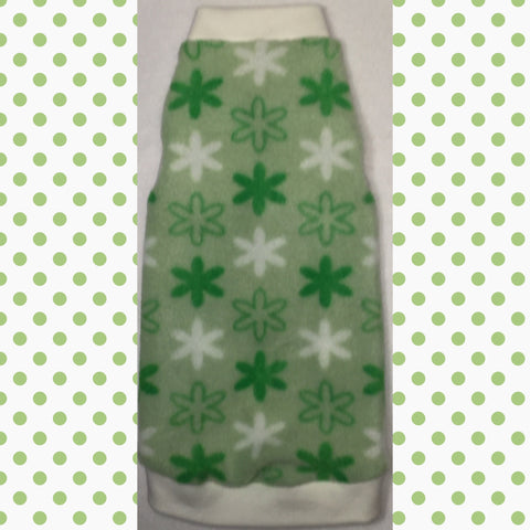 "Green and Cream Flower Fleece ""Go Green"" - Nudie Patooties"