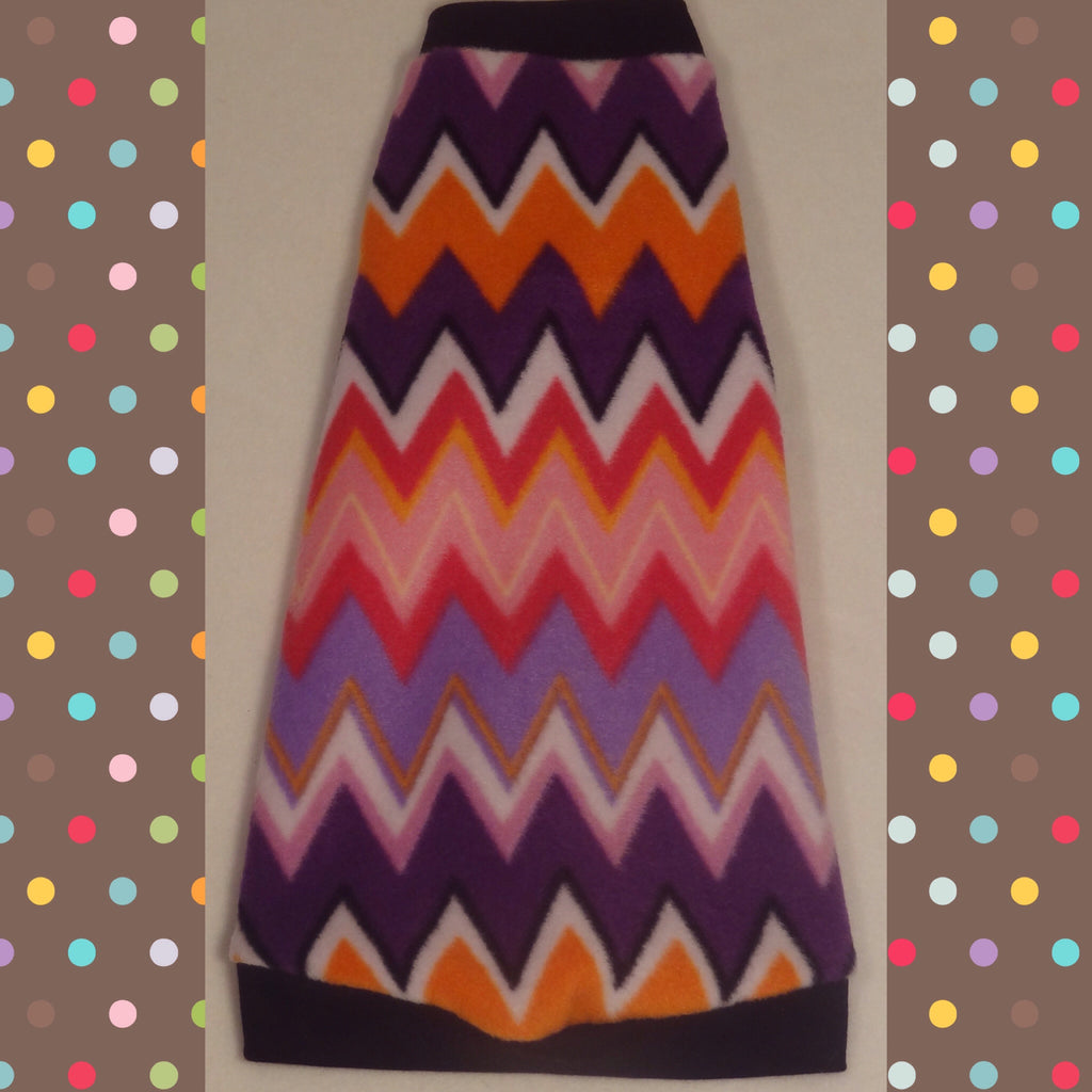 "Purple, Orange, and Pink Fleece ""Chevron"""