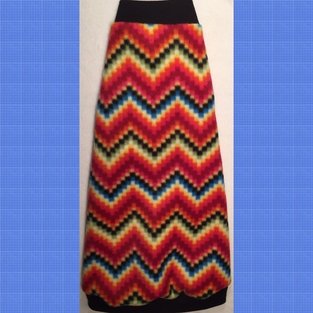 "Colorful Chevron Fleece ""Everyday Party"" - Nudie Patooties"