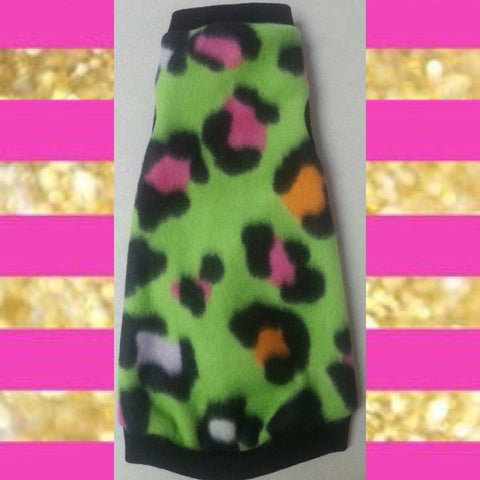 "Green Leopard Fleece ""You are so outta lime"""