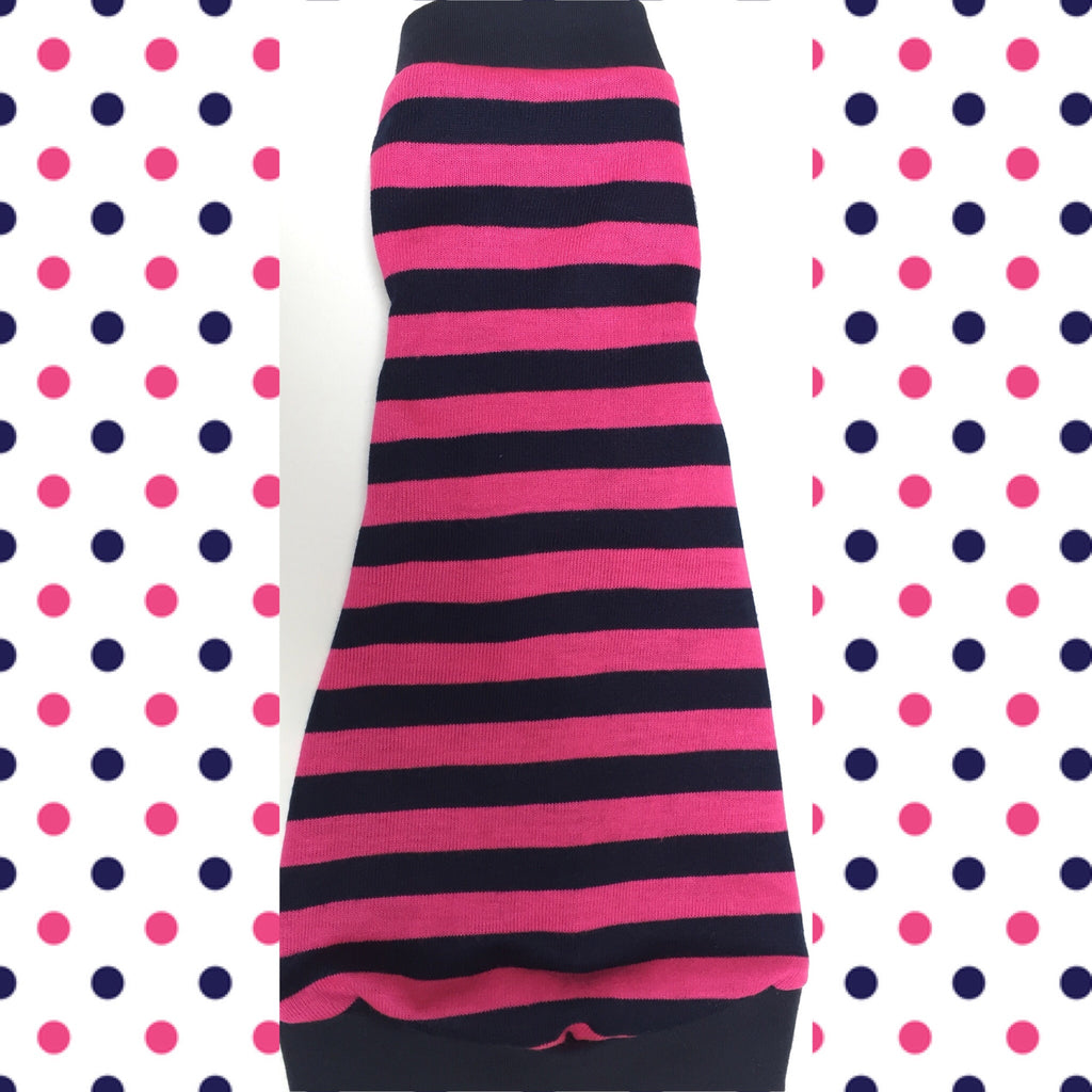 Hot Pink and Navy Stripes