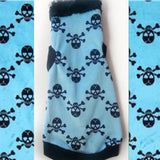 Turquoise Skulls Minky (Faux fur collar option available!)