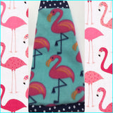 "Turquoise Flamingo Fleece ""Tickled Pink Over You"""
