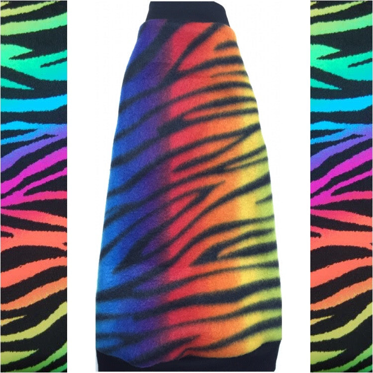"Rainbow Zebra Fleece ""Wildly Cute"" - Nudie Patooties"