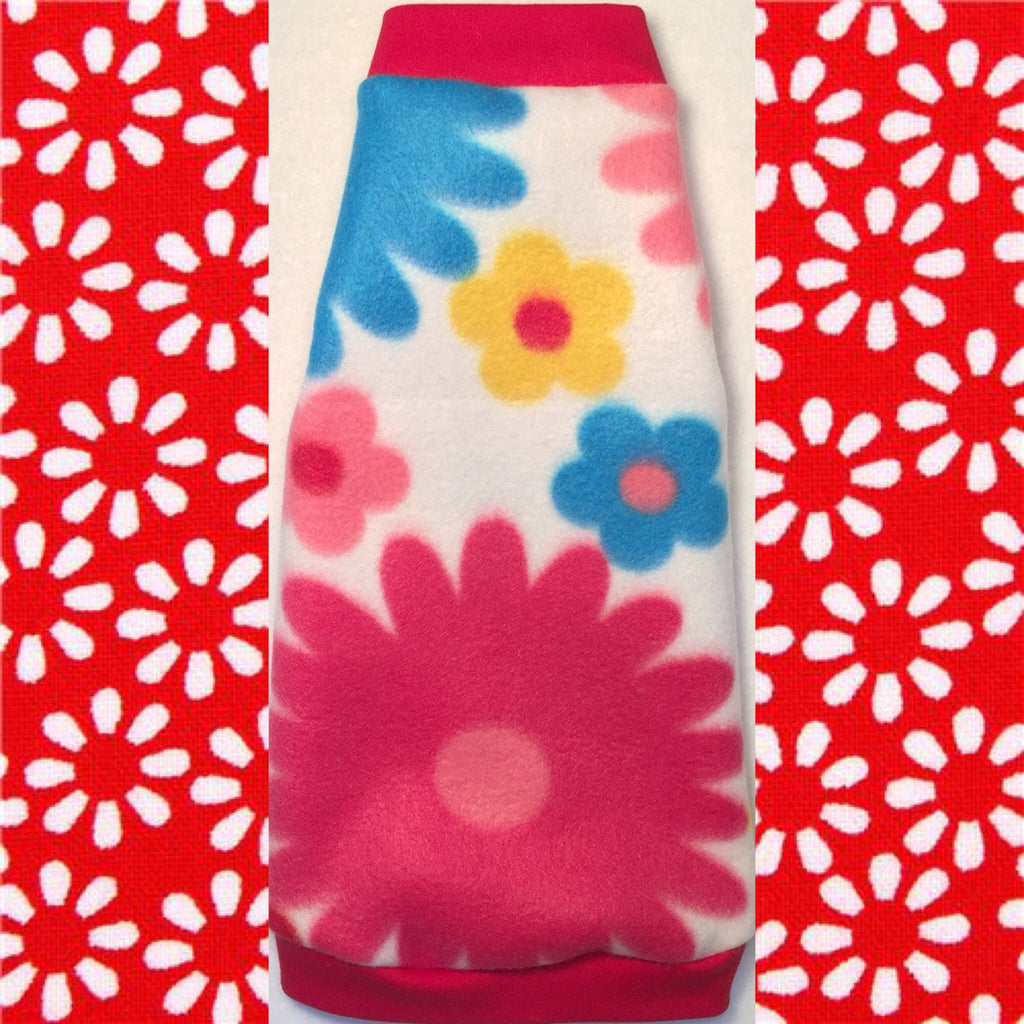 "White with Colorful Flowers Daisy Fleece ""Hand Picked"" - Nudie Patooties"
