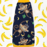 "Navy Monkey Fleece ""Monkey See, Monkey Do"""