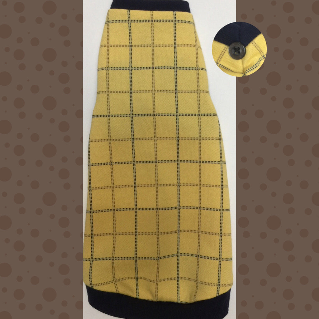 Yellow with Brown and Navy Windowpane - Nudie Patooties