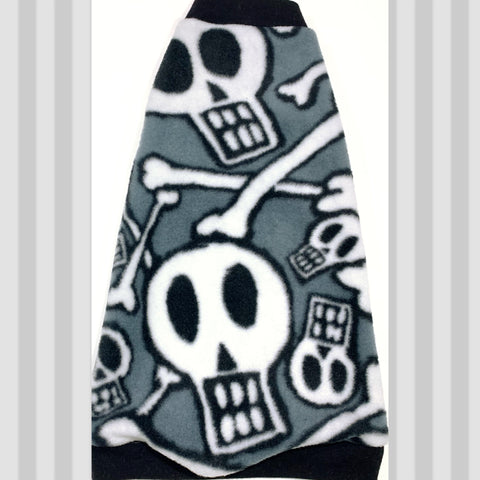"Black and White Skull Fleece ""Rock Da Bones!"""