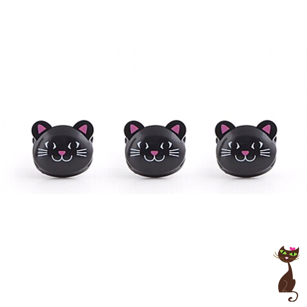 Set of 3 Cat Bag Clips - Nudie Patooties
