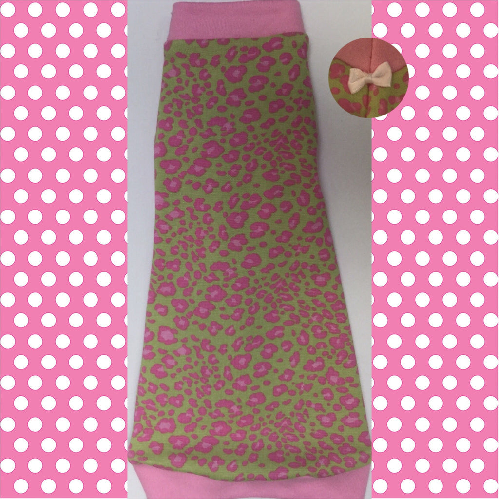 Pink and Lime Green Leopard - Nudie Patooties
