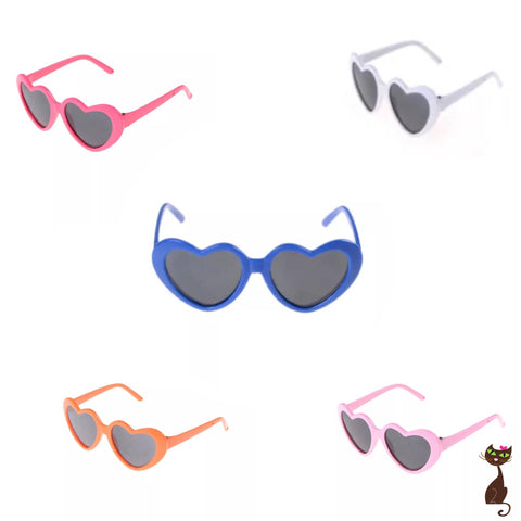 Heart Sunglasses Photo Prop for Cats - Nudie Patooties
