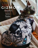Sphynx cat and kitten spooky halloween shirt. cat fleece sweater and and clothes
