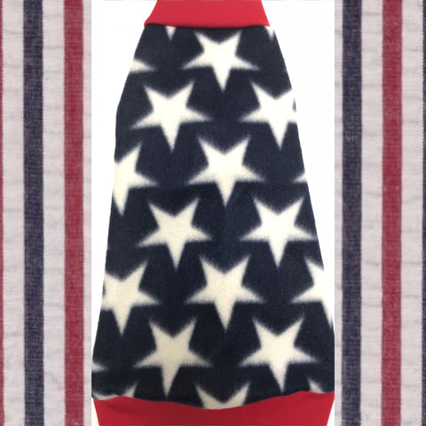 "Navy and White Stars Fleece ""All American"" - Nudie Patooties"