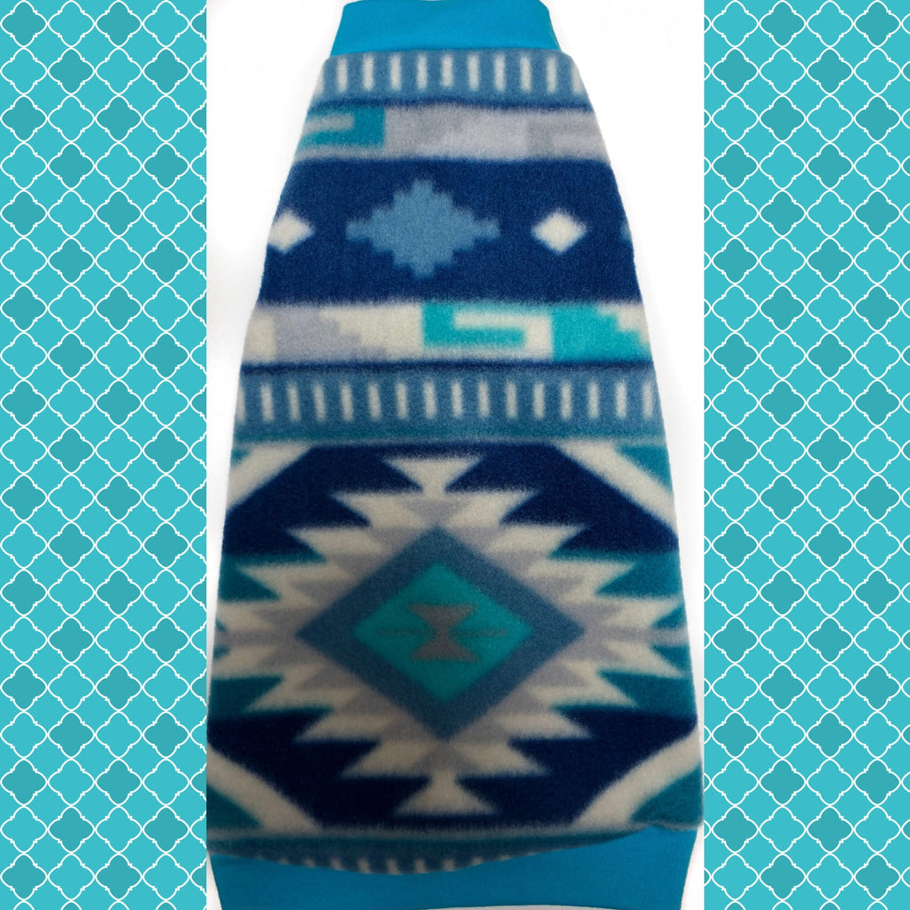 "Blue Aztec Fleece ""Aztec Sky"" - Nudie Patooties"