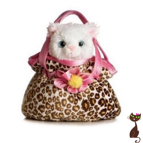 Cat Stuffed Animal in Carrier Toy