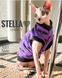 "Black Bats ""I Got a Bat Attitude!"" - Nudie Patooties  Sphynx cat clothes for your sphynx cat, sphynx kitten, Donskoy, Bambino Cat, cornish rex, peterbald and devon rex cat."