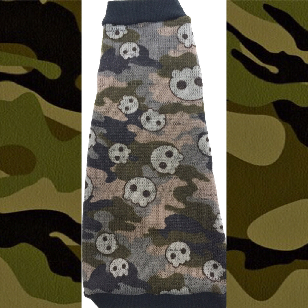 "Camo Skull Sweater Knit with Fleece Lining ""Hunky"" - Nudie Patooties"