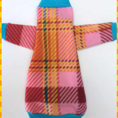 "Long Sleeve Colorful Plaid Fleece ""Everybody's Grooving"""